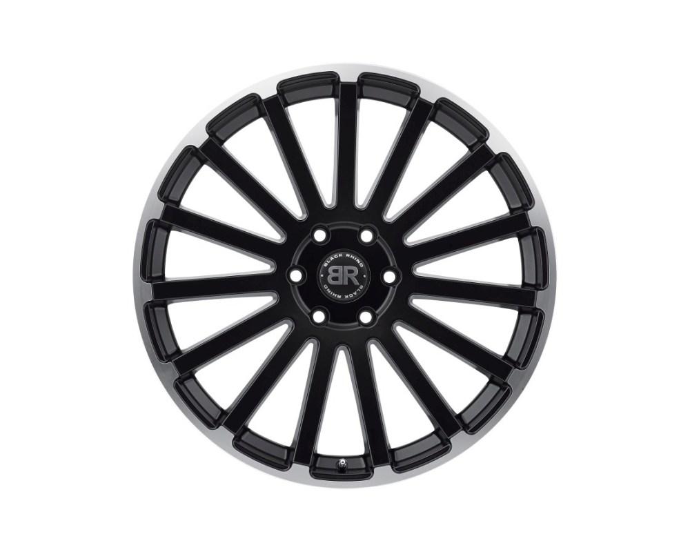 Black Rhino Spear Matte Black w/ Matte Machined Lip Edge Wheel 22x9.5 5x127|5x5 30mm CB71.6