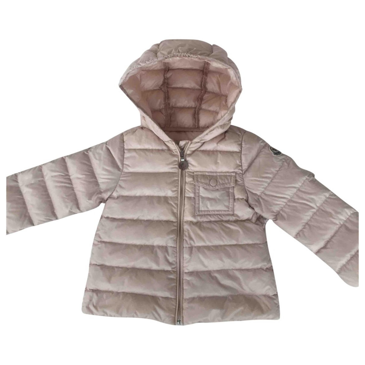 Moncler Hood Pink jacket & coat for Kids 2 years - up to 86cm FR