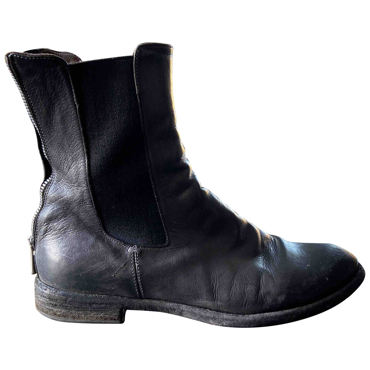 Officine Creative N Grey Leather Ankle boots for Women 36.5 EU