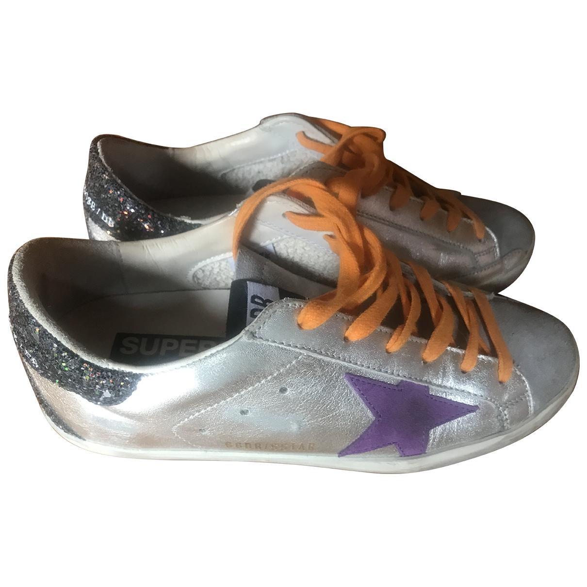 Golden Goose \N Sneakers in  Silber Leder