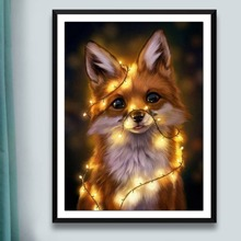 Fox Print Diamond Painting Without Frame