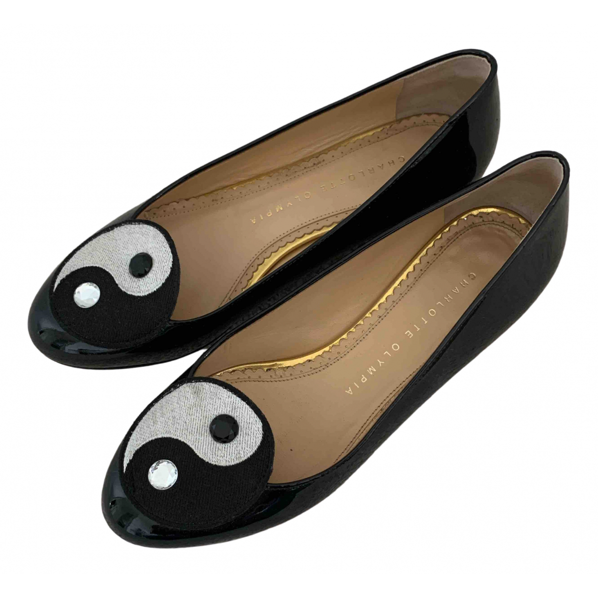 Charlotte Olympia \N Black Patent leather Ballet flats for Women 35 EU