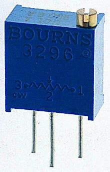 Bourns 3kΩ, Through Hole Trimmer Potentiometer 0.5W Top Adjust , 3296
