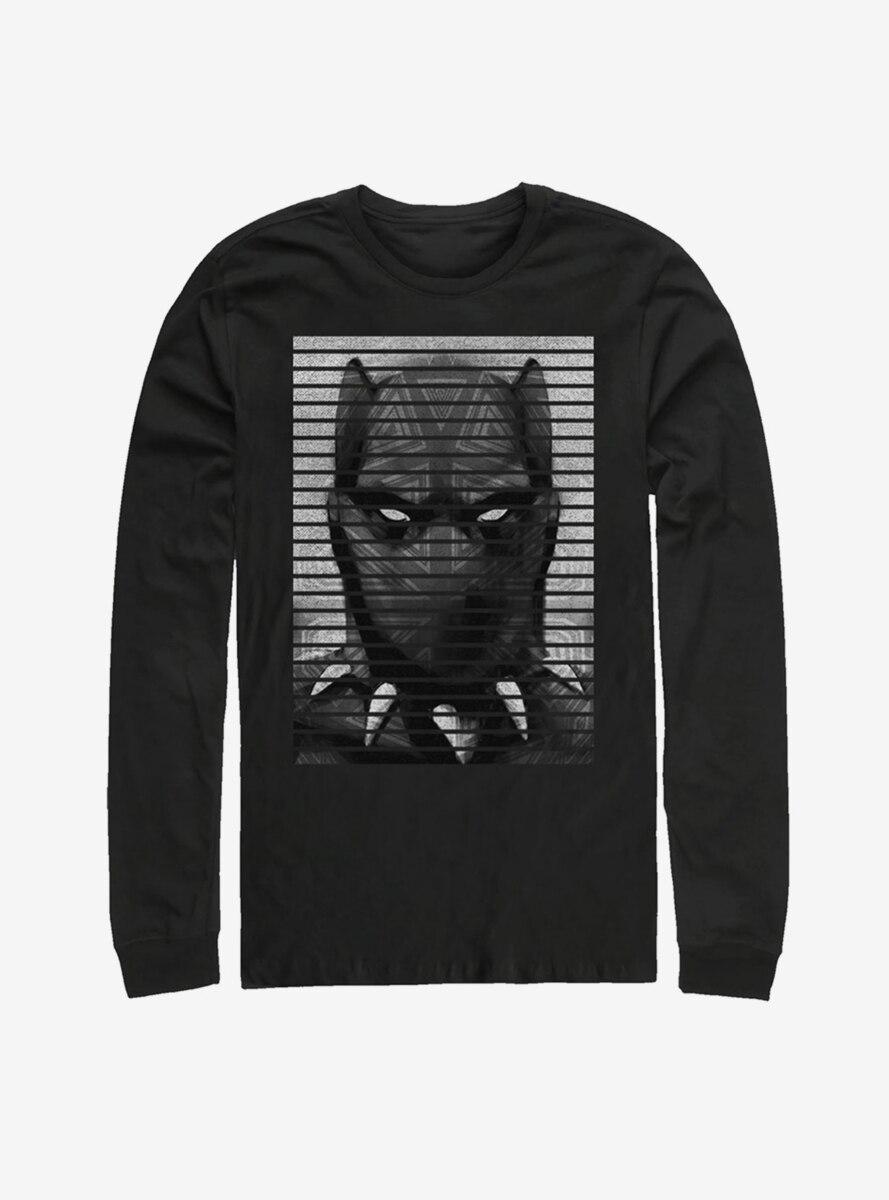 Marvel Black Panther Striped Profile Long Sleeve T-Shirt