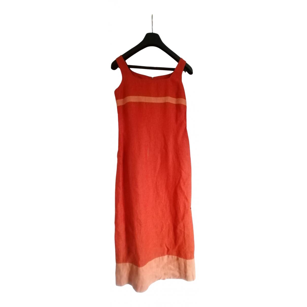 Cyrillus \N Kleid in  Orange Leinen