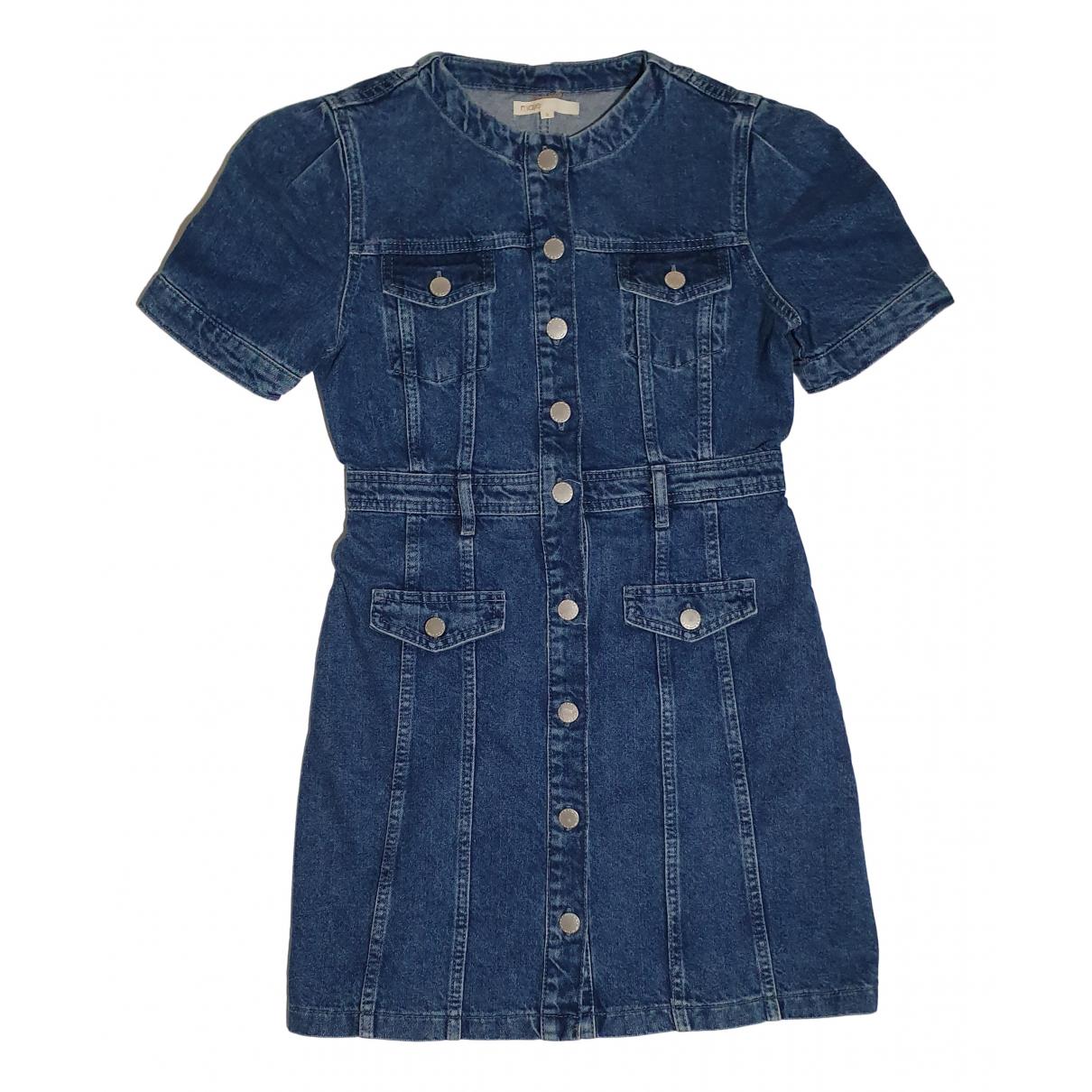 Maje Spring Summer 2019 Kleid in  Blau Baumwolle