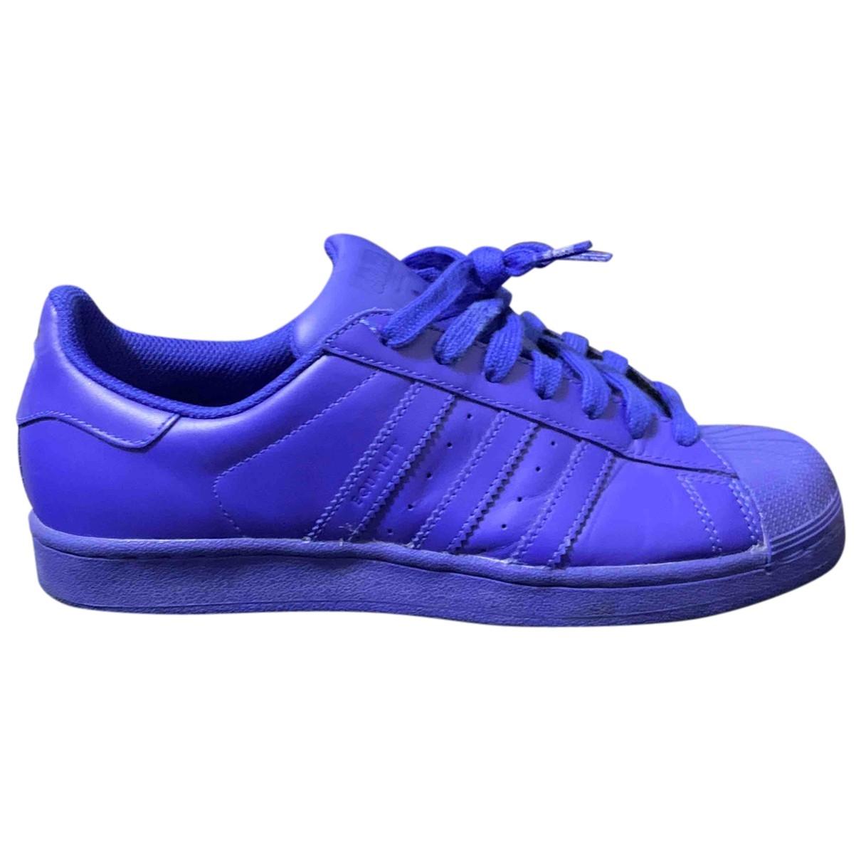 Adidas X Pharrell Williams - Baskets   pour homme en caoutchouc - bleu