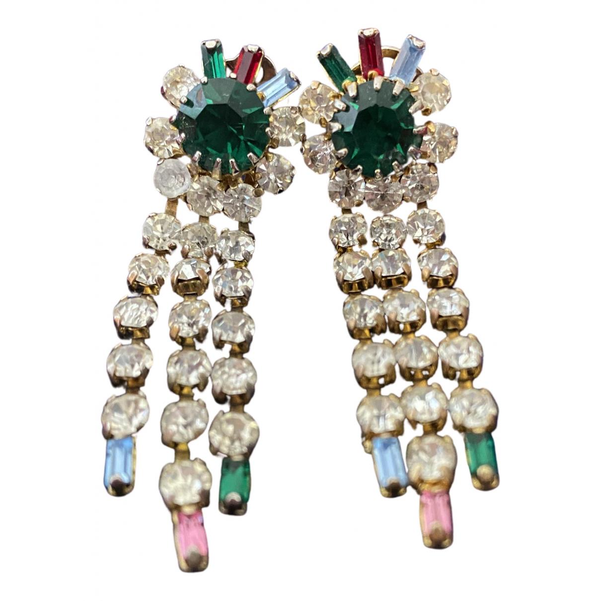 - Boucles doreilles   pour femme en verre - multicolore