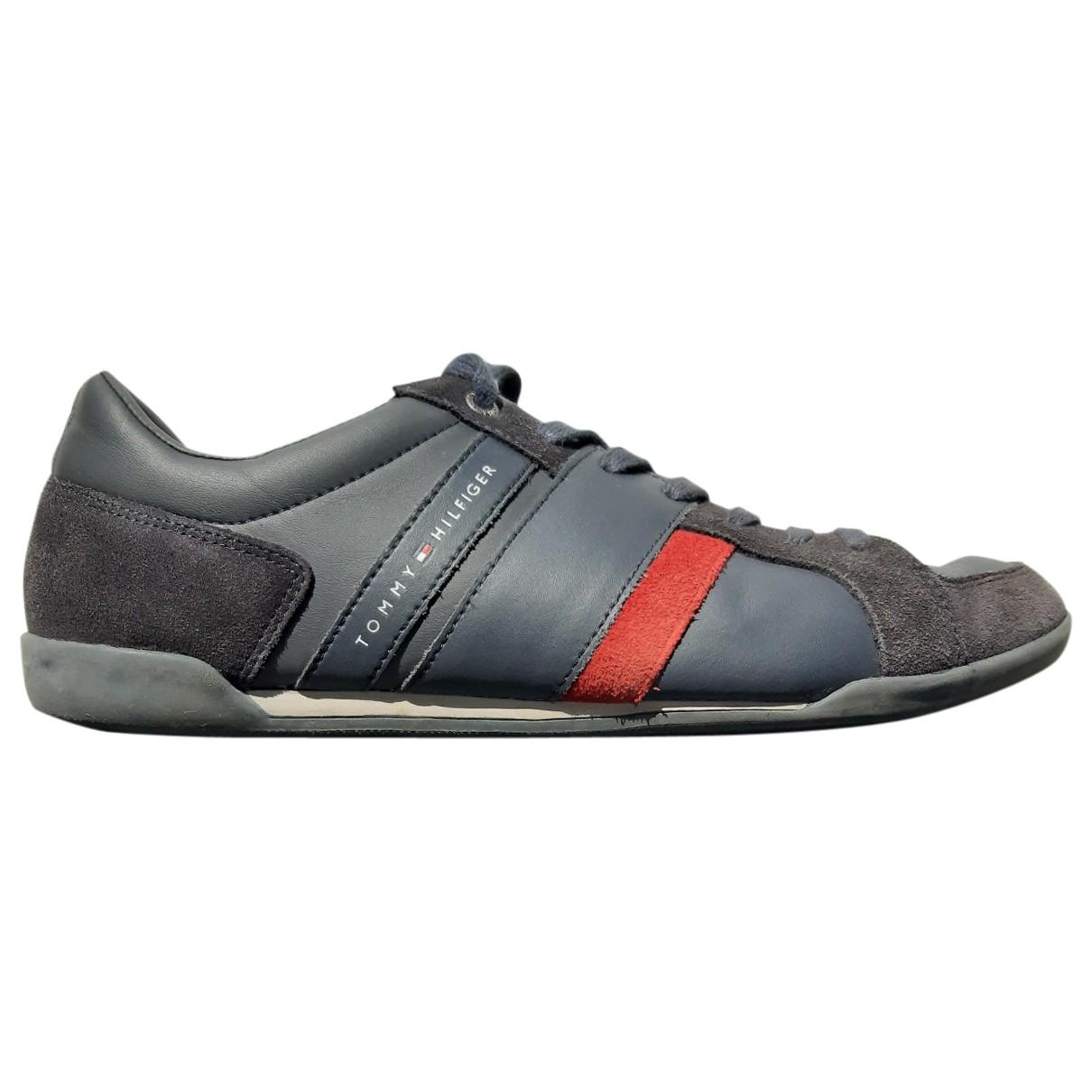 Tommy Hilfiger \N Sneakers in  Marine Leder