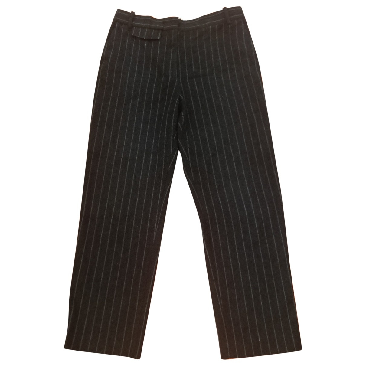Sandro \N Black Wool Trousers for Women 40 FR