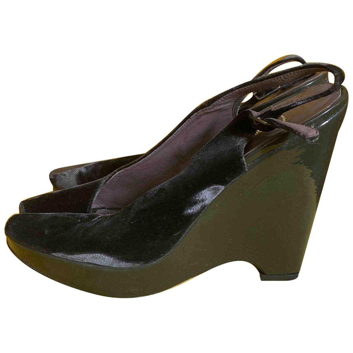 Castaner - Escarpins   pour femme en velours - vert