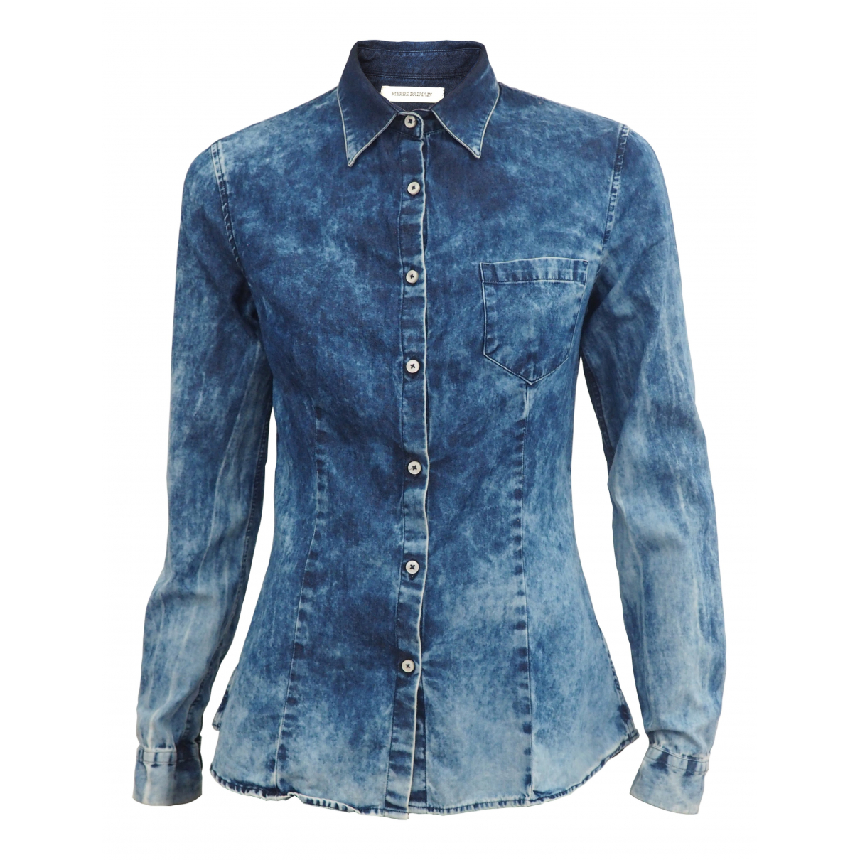 Pierre Balmain \N Blue Cotton  top for Women S International