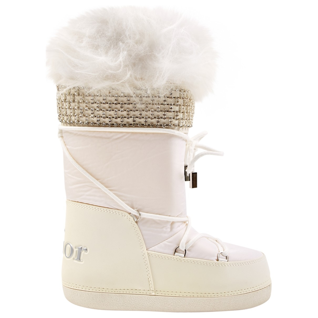 Dior \N White Leather Boots for Women 36 EU