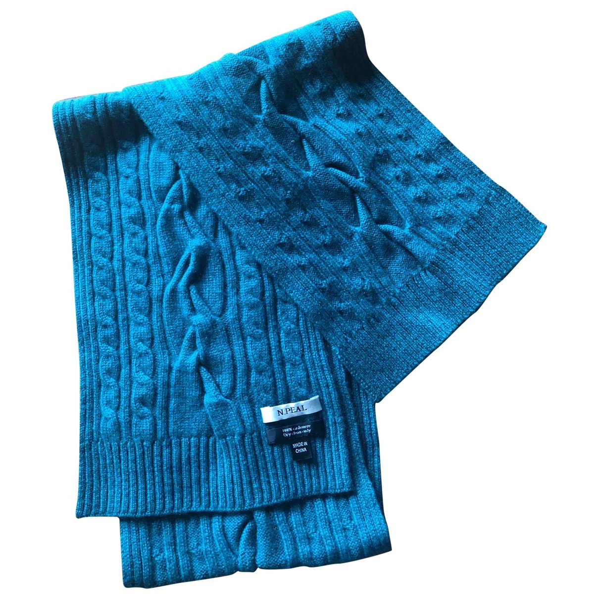 N. Peal \N Turquoise Cashmere scarf for Women \N