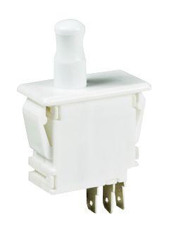 C & K Single Pole Double Throw (SPDT) Door Interlock Push Button Switch, 10 A @ 125 / 250 V ac (50)