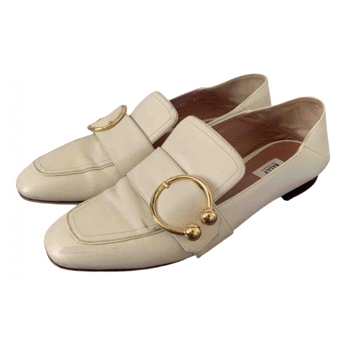 Bally \N White Leather Flats for Women 39.5 EU