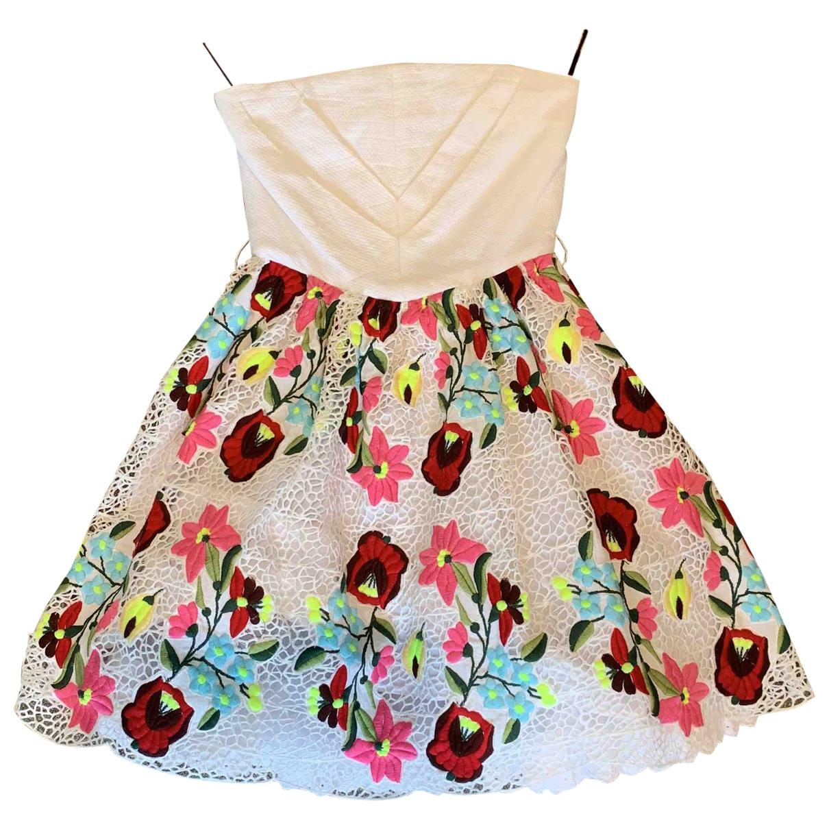 Manoush \N Kleid in  Weiss Baumwolle