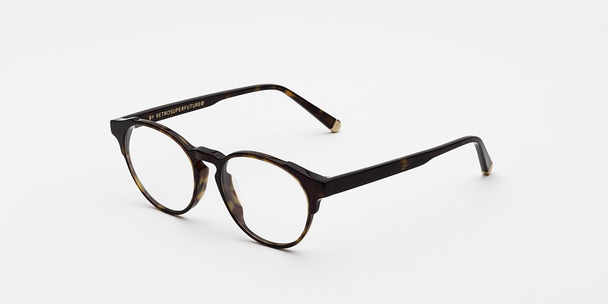 Retrosuperfuture Numero 41 3627 IEKP WKC Men's Glasses Tortoise Size 49 - Free Lenses - HSA/FSA Insurance - Blue Light Block