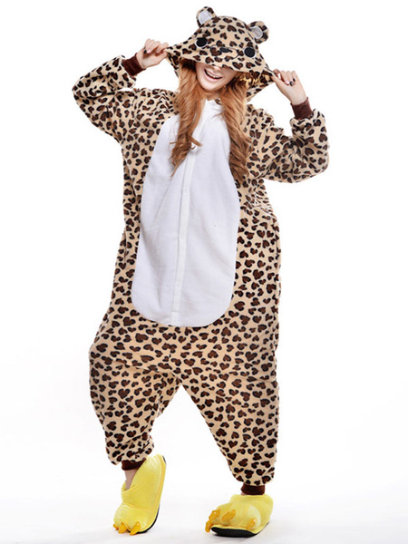 Milanoo Disfraz Halloween Traje de la mascota de leopardo imprimir oso sinteticas  Halloween