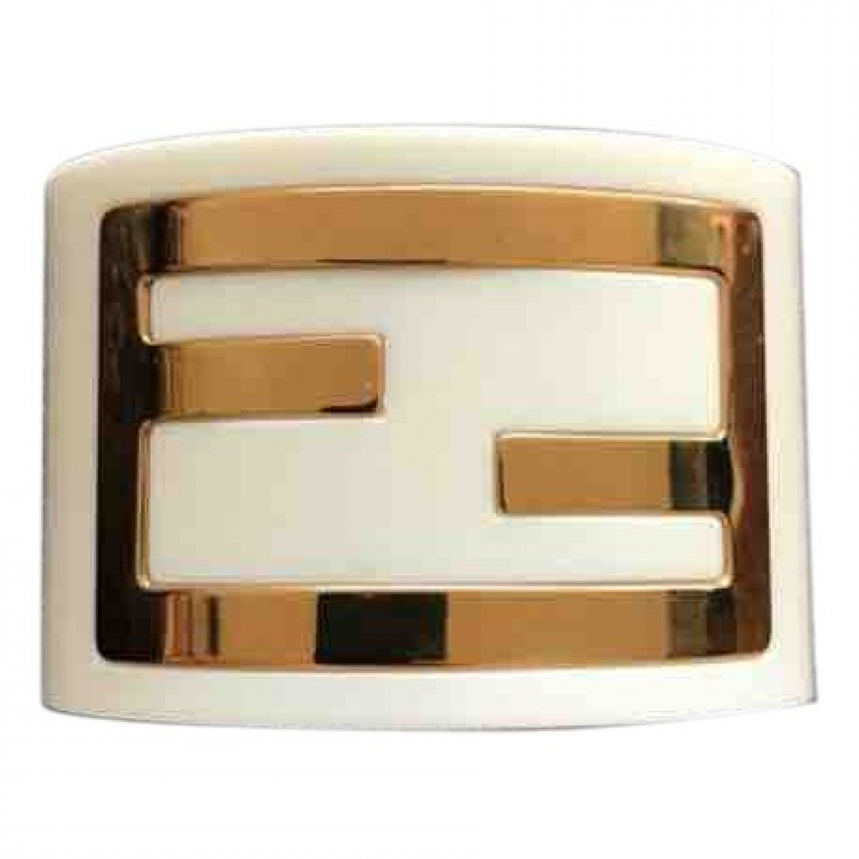 Fendi The Fendista Armband in  Weiss Kunststoff