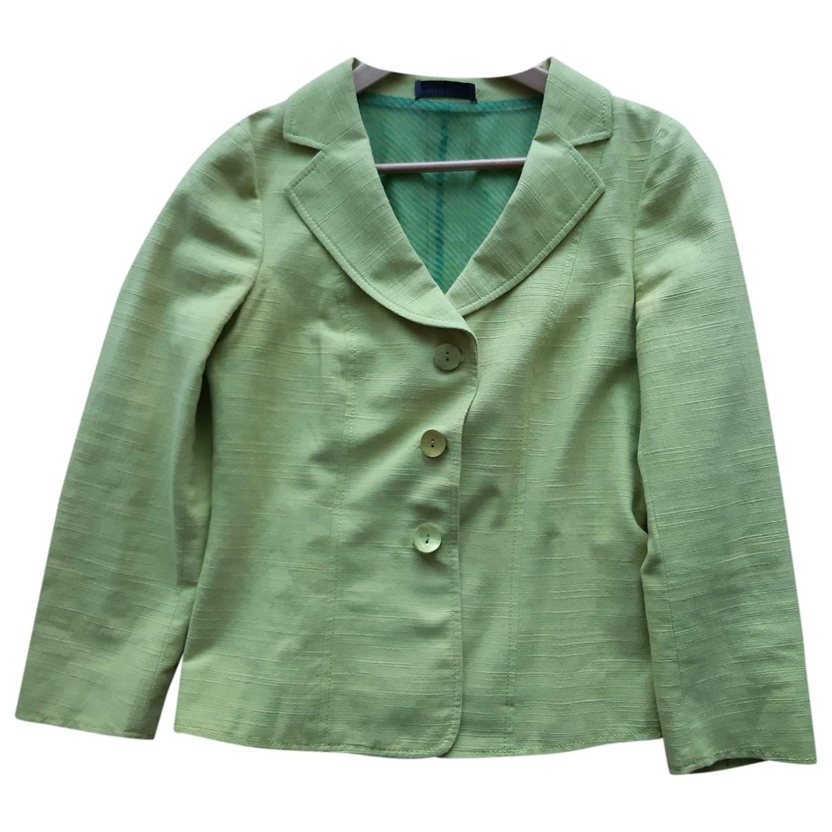 Alberta Ferretti - Veste   pour femme en lin - vert