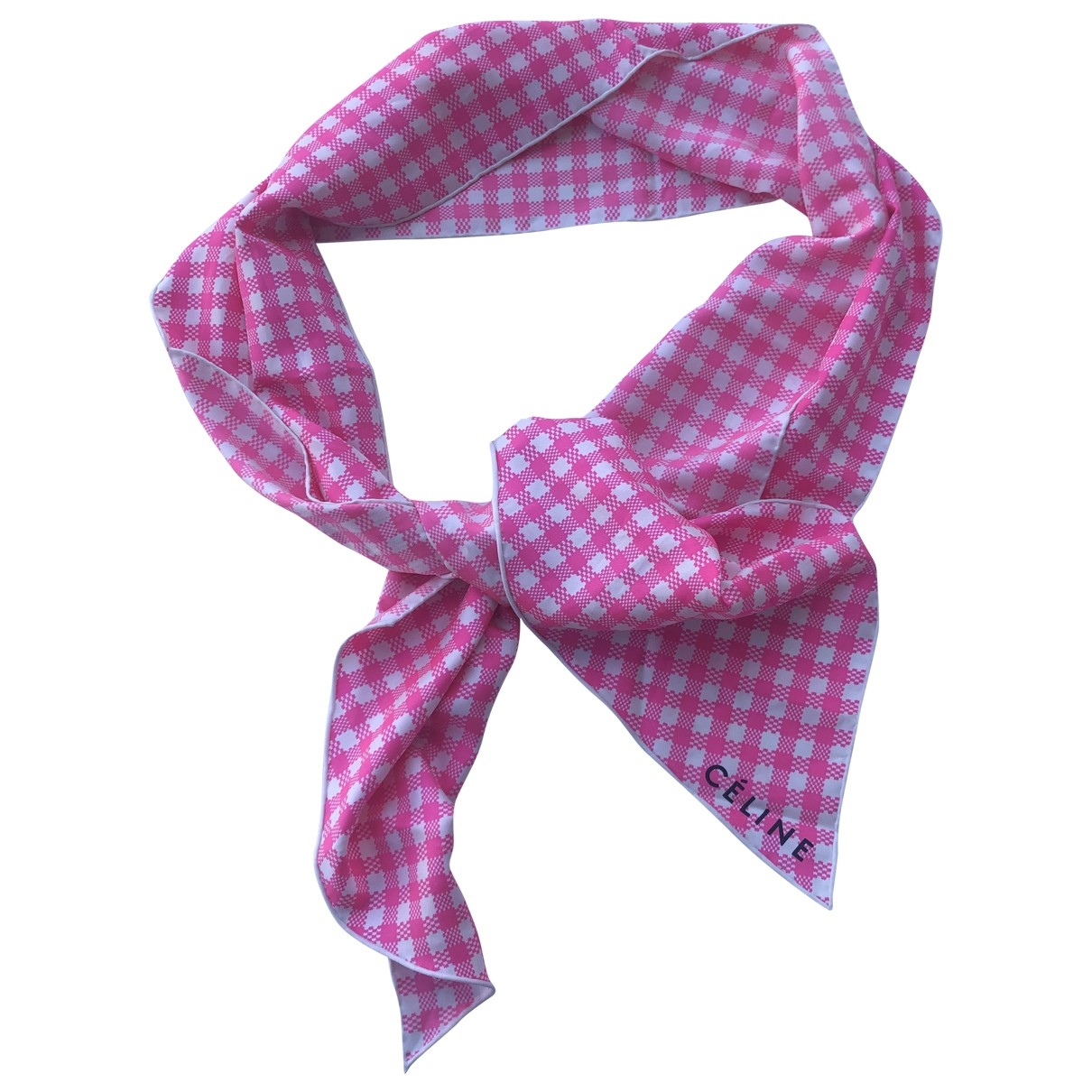 Celine - Foulard   pour femme en soie - rose