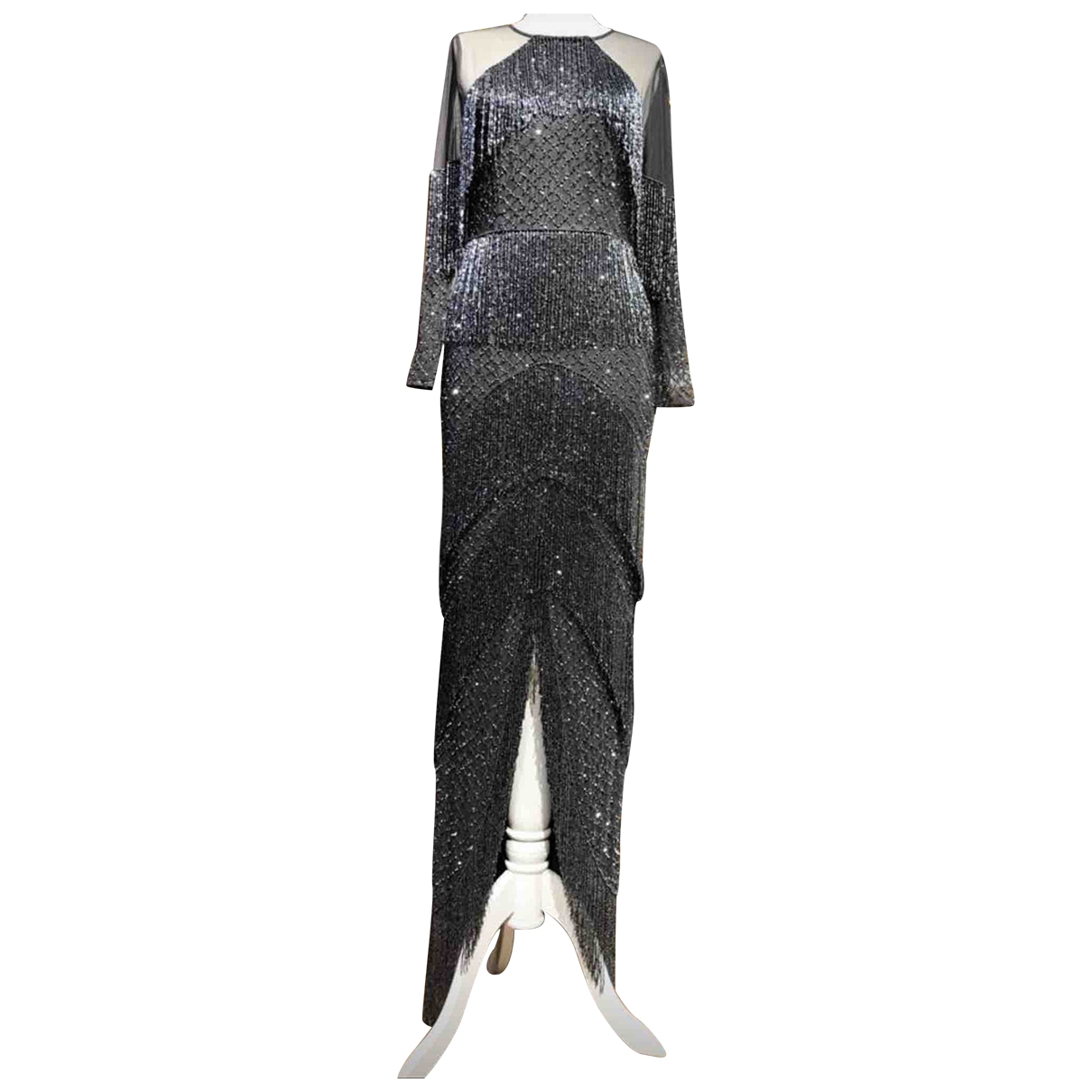 711 \N Kleid in  Grau Mit Pailletten