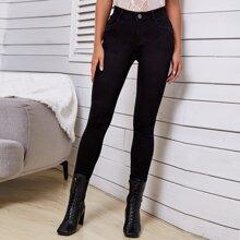Jeans mit schwarzer Waschung