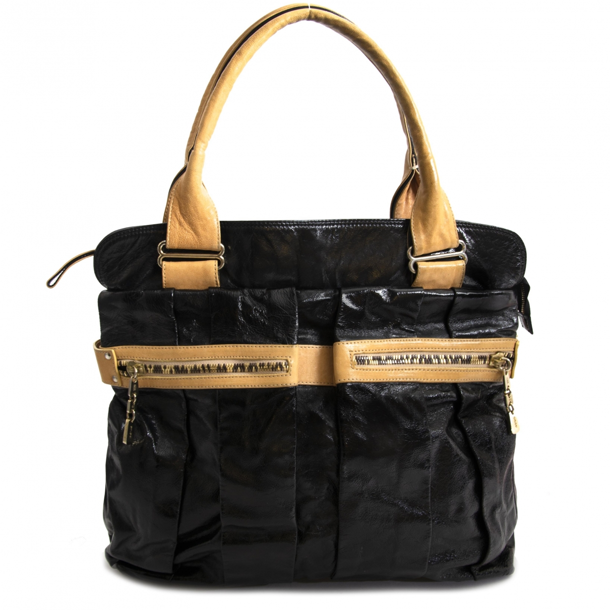 See By Chloe \N Handtasche in  Schwarz Lackleder
