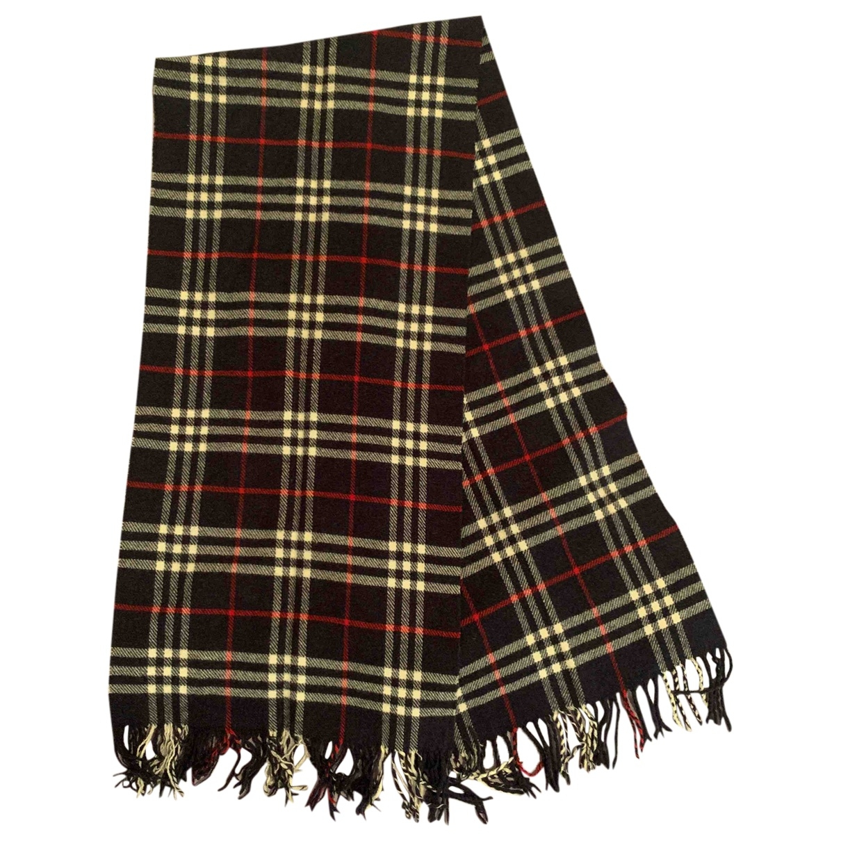 Burberry \N Navy Wool scarf for Women \N