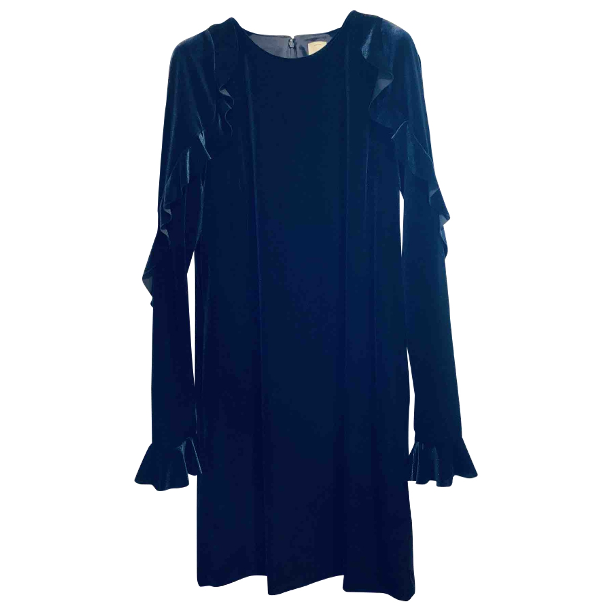 Pinko - Robe   pour femme en velours - bleu