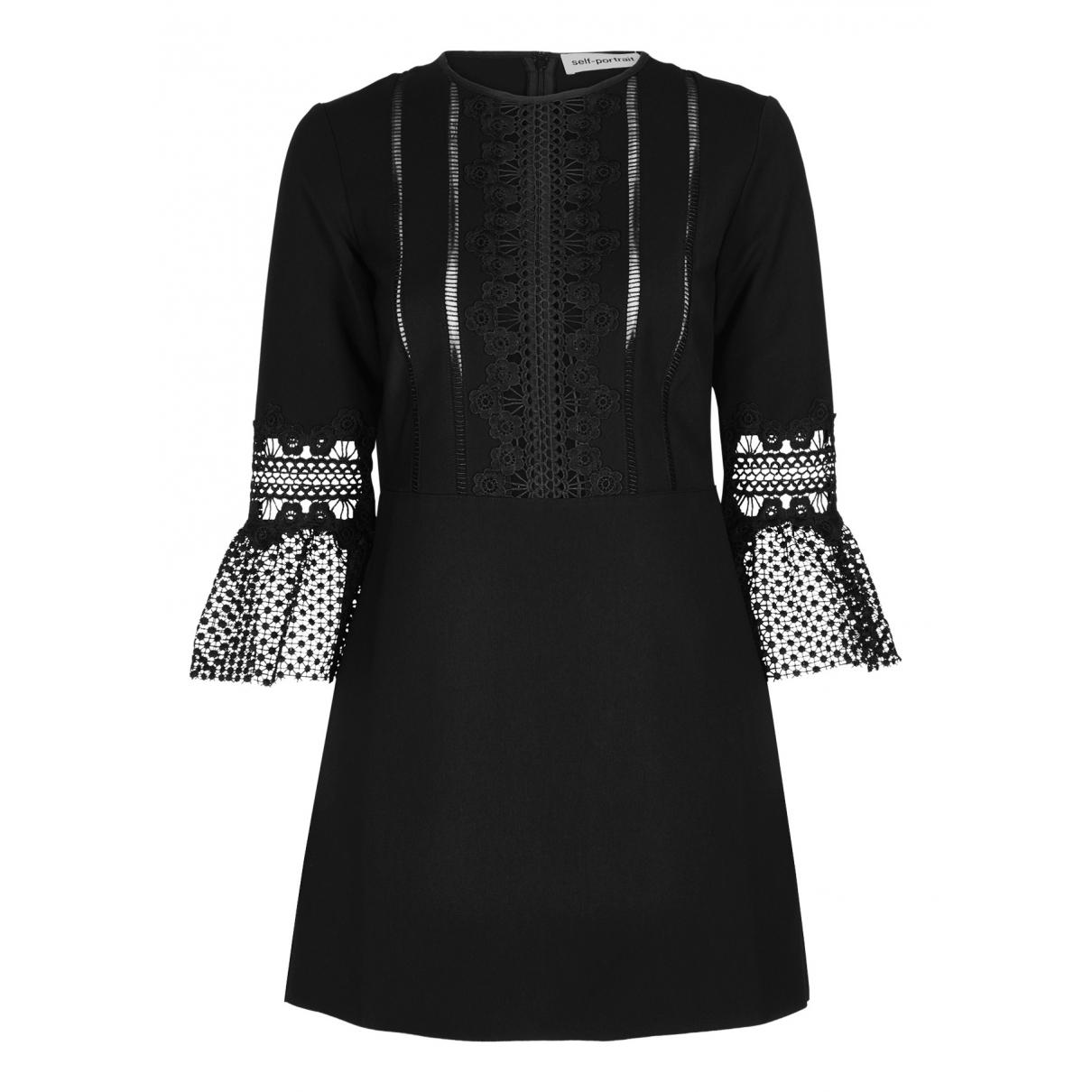 Self Portrait N Black Cotton dress for Women 10 UK