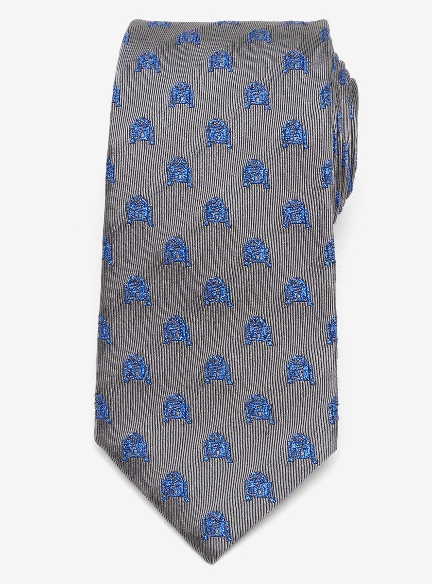 Star Wars R2D2 Metallic Blue Tie