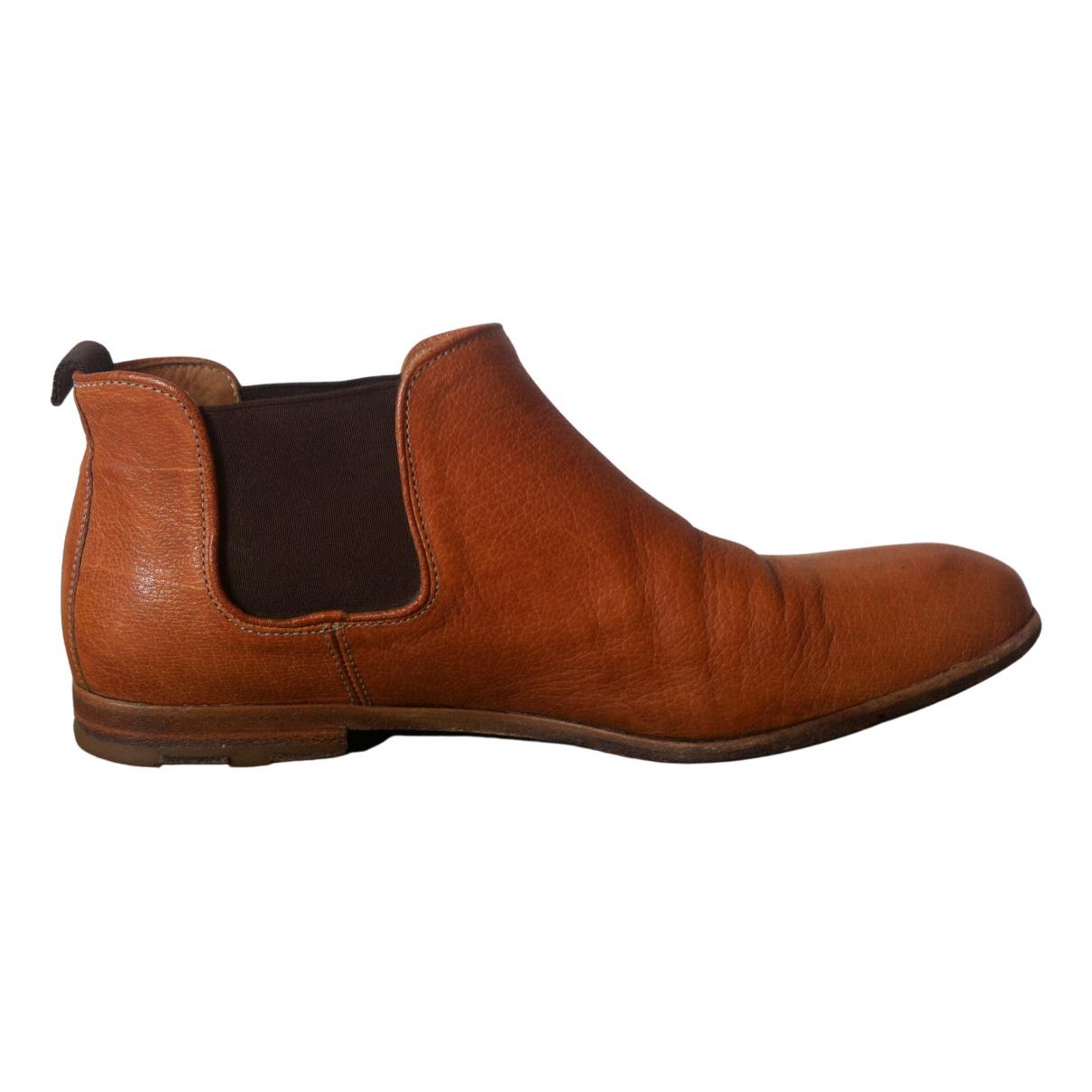 Heschung - Boots   pour femme en cuir - marron