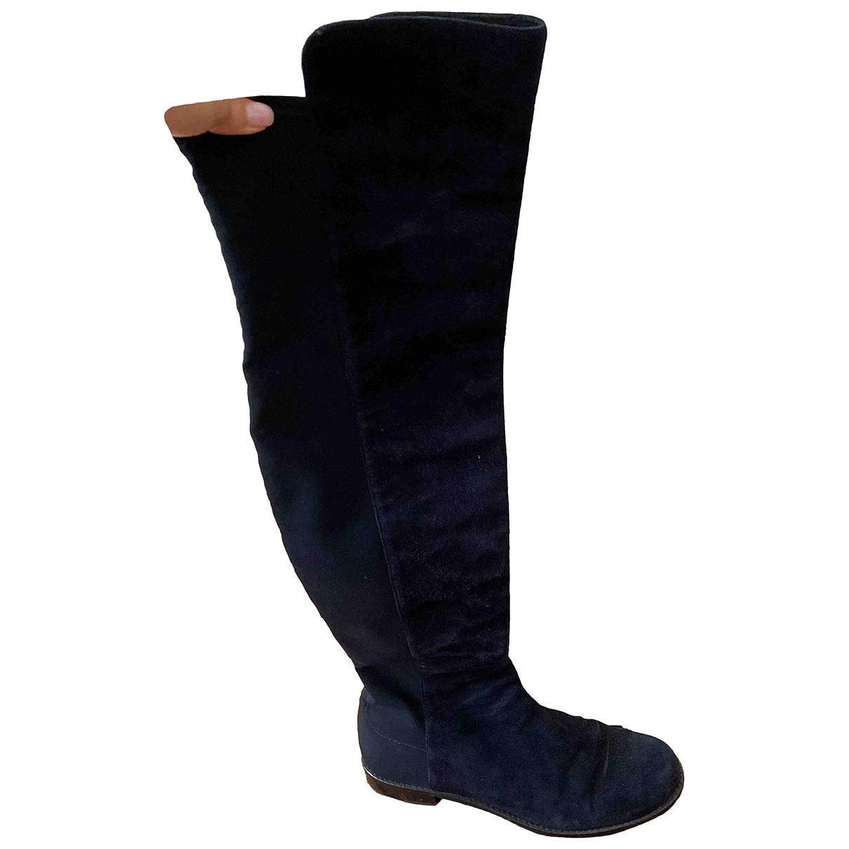 Stuart Weitzman \N Blue Suede Boots for Women 38 EU