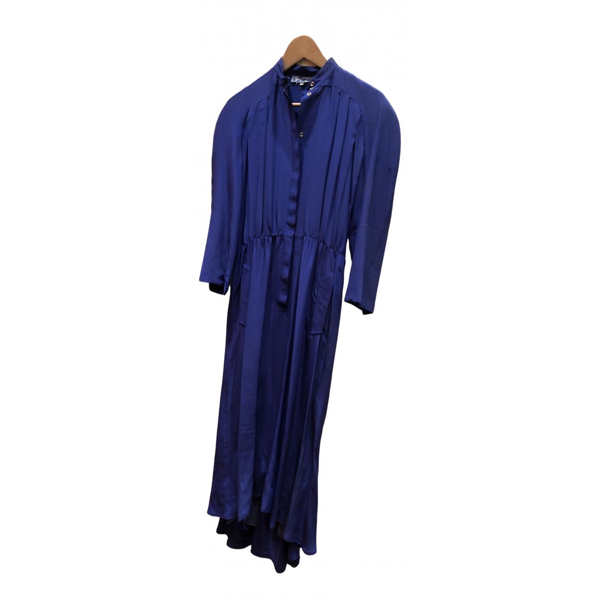 Thierry Mugler \N Kleid in  Blau Seide
