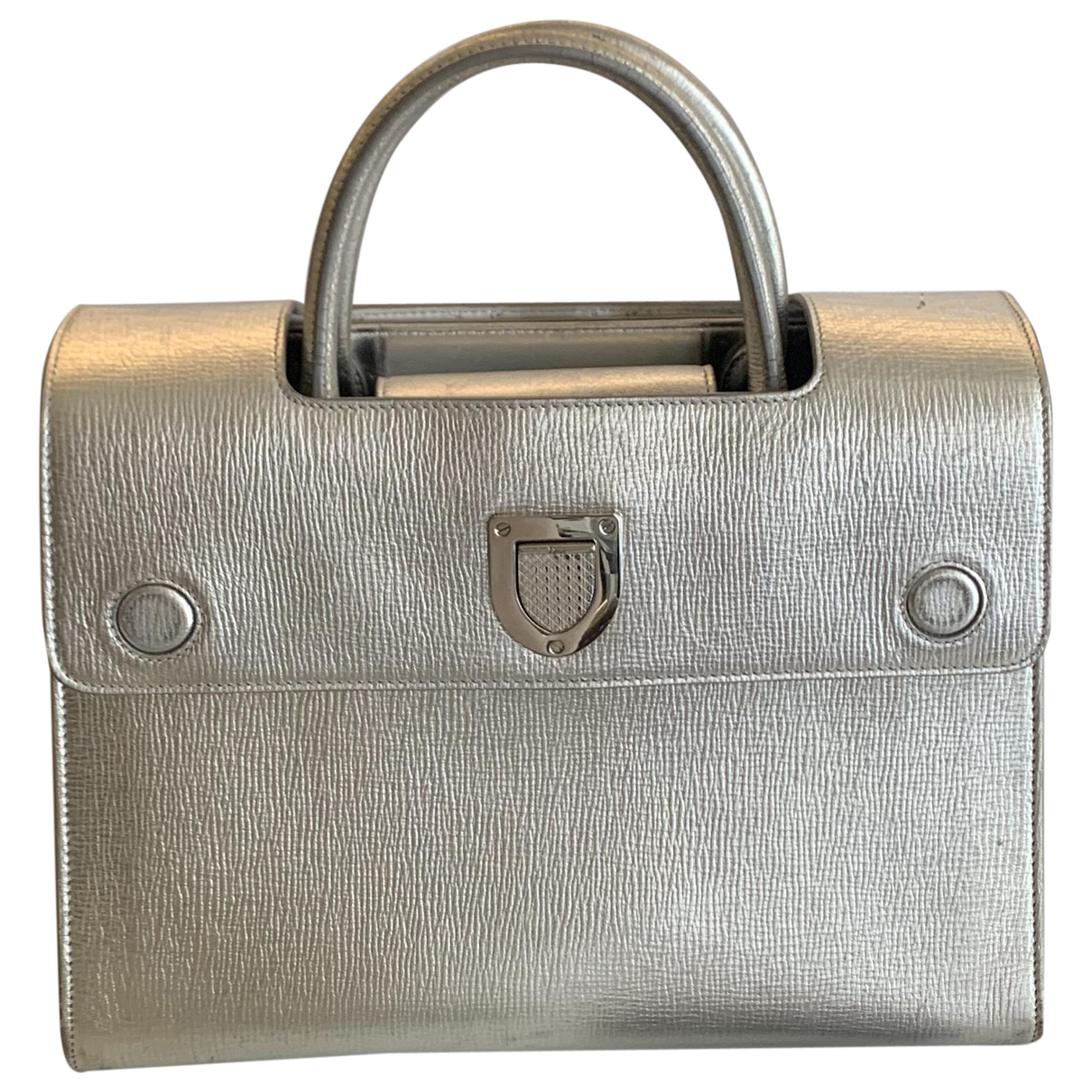 Dior Diorever Silver Leather handbag for Women \N