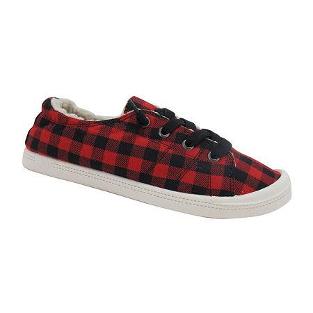 Pop Womens Sneakers, 11 Medium, Red
