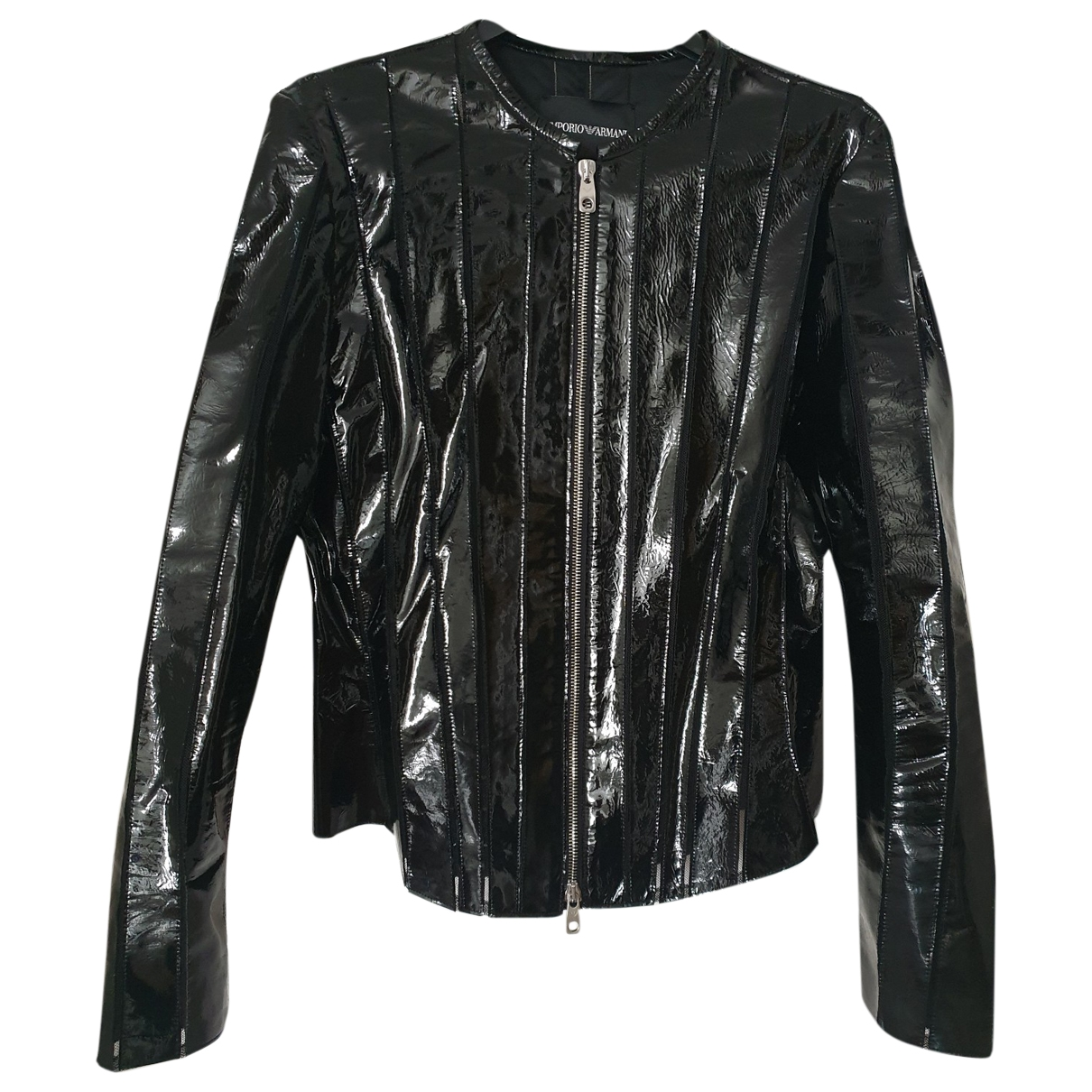 Emporio Armani \N Black Leather jacket for Women 42 IT