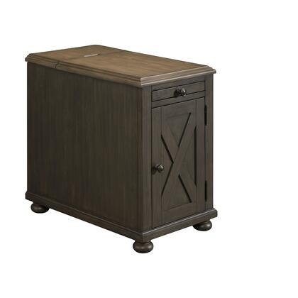 Collection 7650-41 Power Chairside Table in Black and Brown