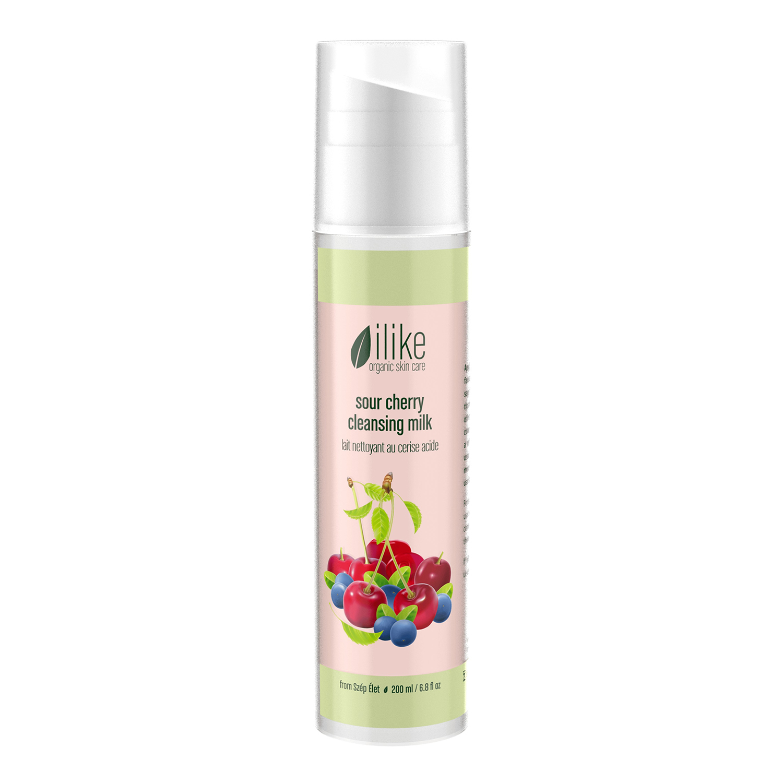 ilike organic skincare sour cherry cleansing milk (200 ml / 6.8 fl oz)