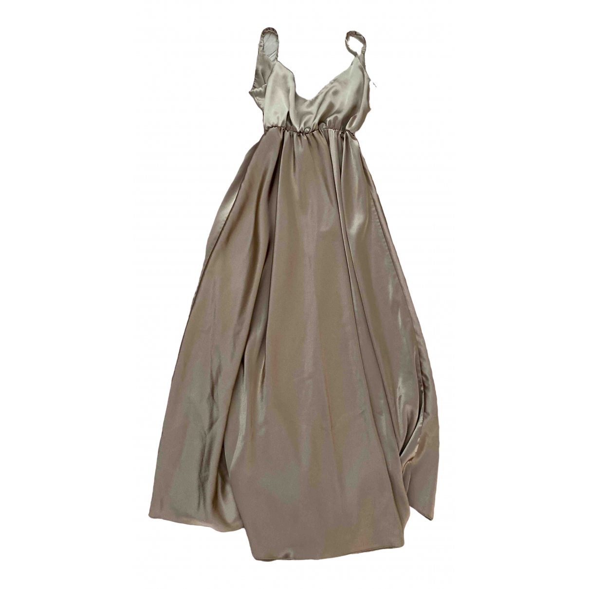 Non Signe / Unsigned \N Kleid in  Metallic Synthetik