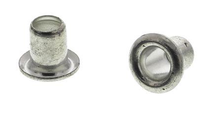 Keystone 45, Wide Roll Eyelet PCB Rivet for 3.18mm Diameter, 3.96mm Length (100)