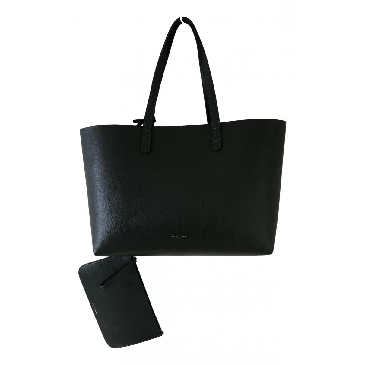 Mansur Gavriel \N Handtasche in  Gruen Leder