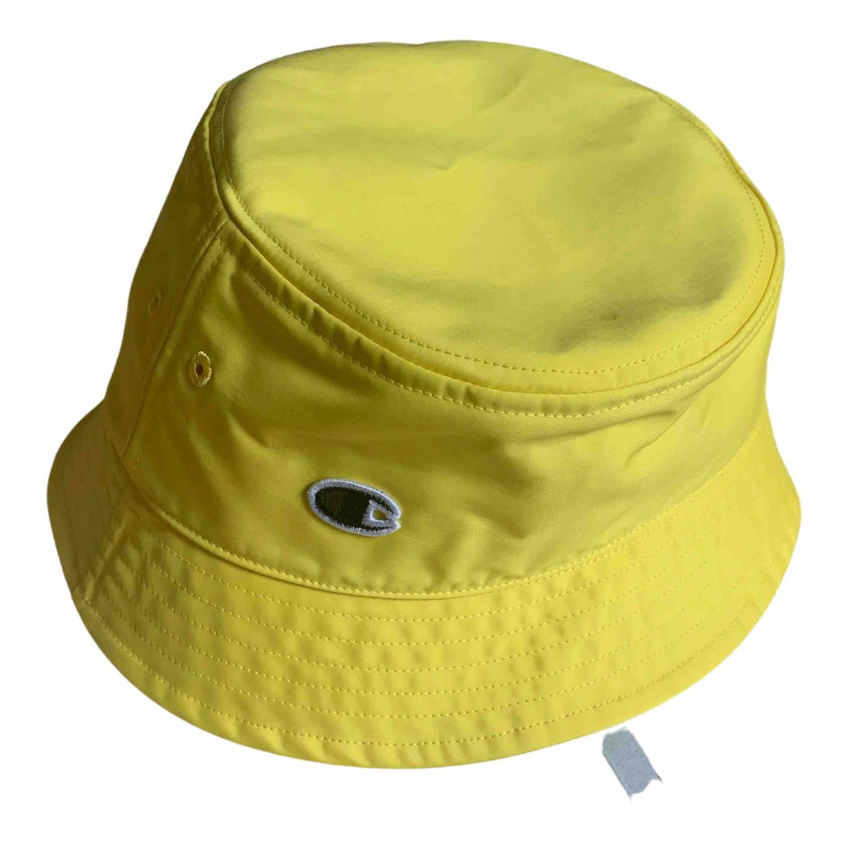 Champion - Chapeau   pour femme en toile - jaune