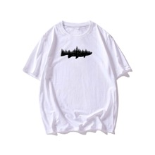 Men Graphic Print Short Sleeve Tee