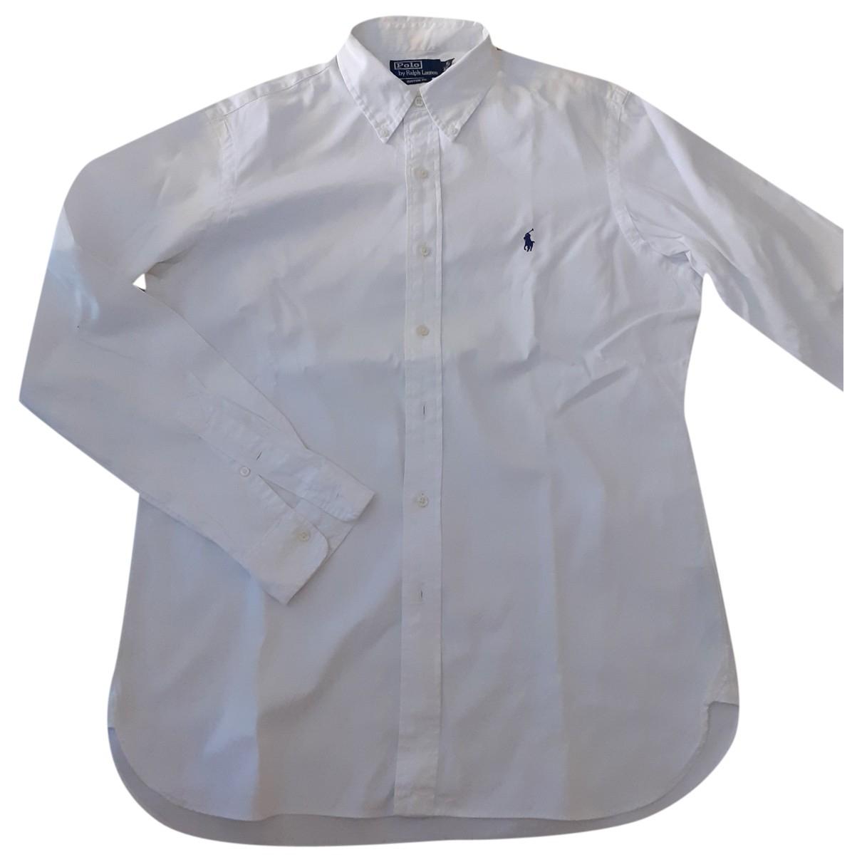 Polo Ralph Lauren \N White Cotton Shirts for Men 16 UK - US (tour de cou / collar)