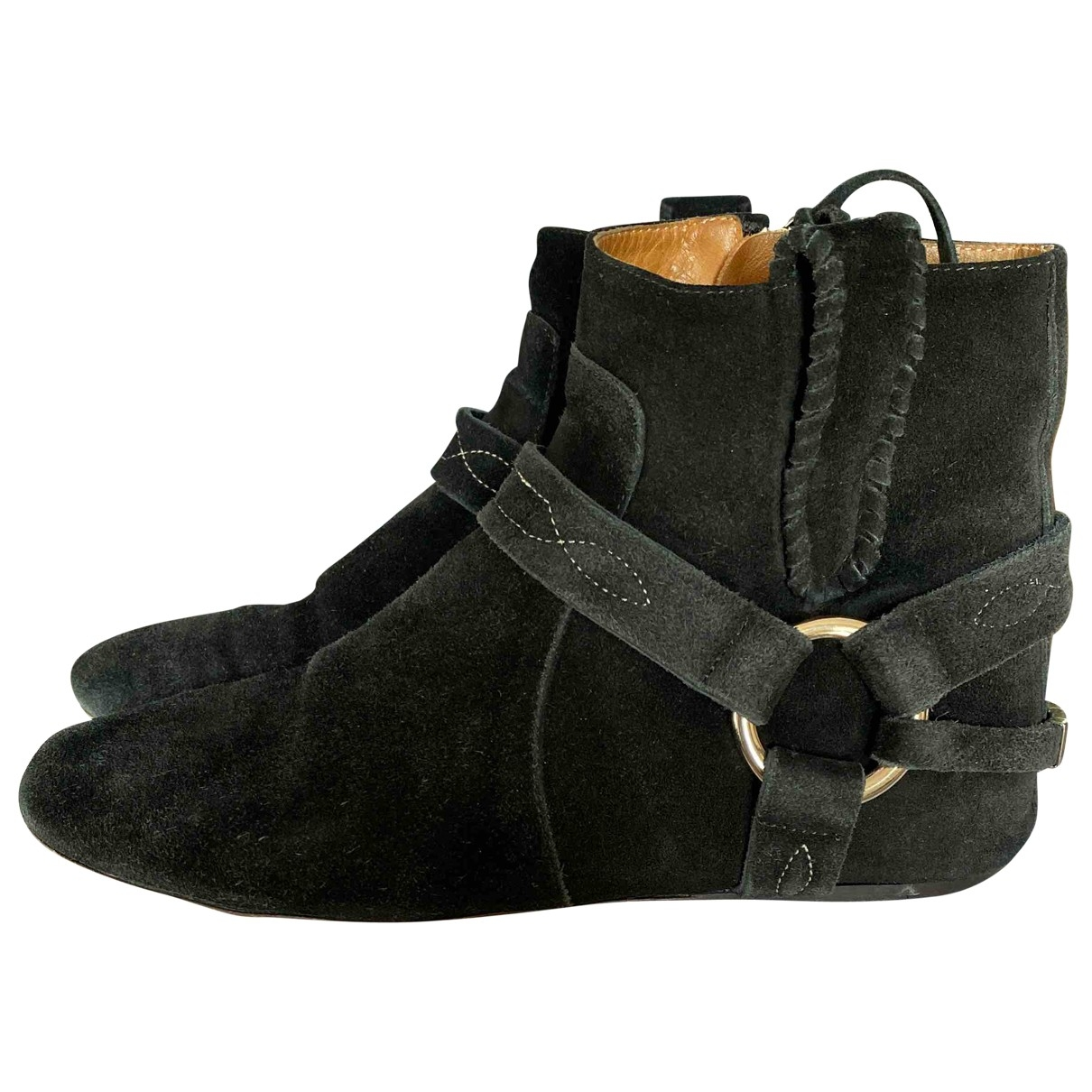 Isabel Marant \N Black Suede Ankle boots for Women 37 EU