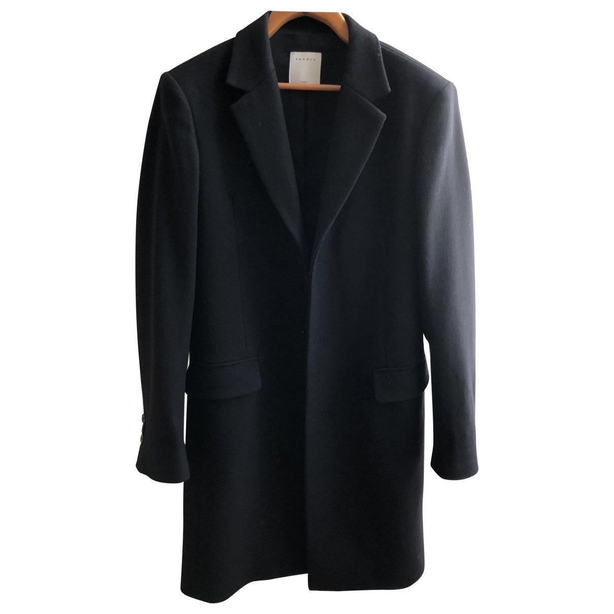 Sandro \N Black Wool coat  for Men S International