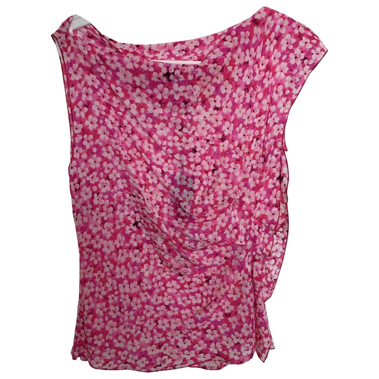 Emanuel Ungaro \N Pink Silk  top for Women 44 IT